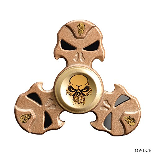 Price comparison product image Hand Spinner Metal, OWLCE Fidget Spinner Toy Stress Reducer Spinning 3 Min+ EDC ADHD Focus Toy Perfect for Adults & Kids, ROSE GOLD