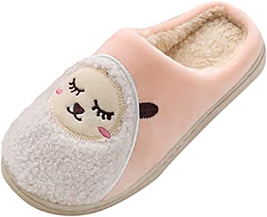 Nevera Women Christmas Animal Slippers Men Cute Reindeer Warme Cotton Home Boots Shoes Indoor House Slippers Booties