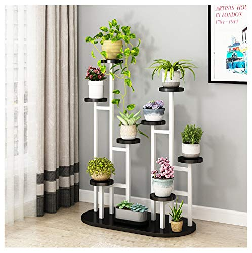 OPPALE Flower Shelf Multi-Storey Indoor Living Room Drop Subway Art Green Sage Orchid Flower Pot Rack Shelf Space Saving - Flower Stand (Color : B)