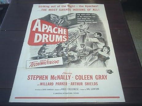 Original Movie Poster Apache Drums Stephen McNally Hugo Fregonese 1951