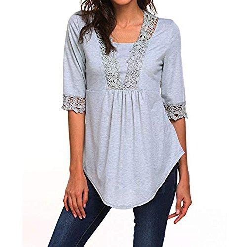 トップス 女性、三番目の店 レディース カジュアル 半袖 トップス ネクタイ Tシャツ ブラウス チュニック ブラウス シャツ