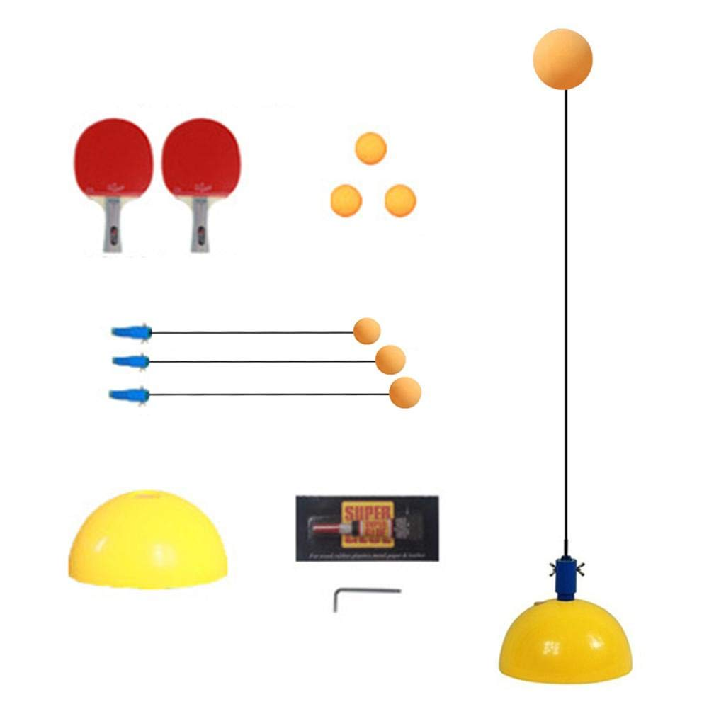 Table Tennis Training Equipment Elastic Soft Shaft Table Tennis Trainer Relieve Pressure Self-Training Single Practice Artifact Toy