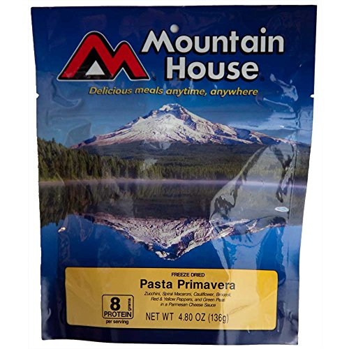 Mountain House Freeze-Dried Pasta Primavera Backpacking, Camping or Emergency Dinner/Meal - Two 10 oz Servings