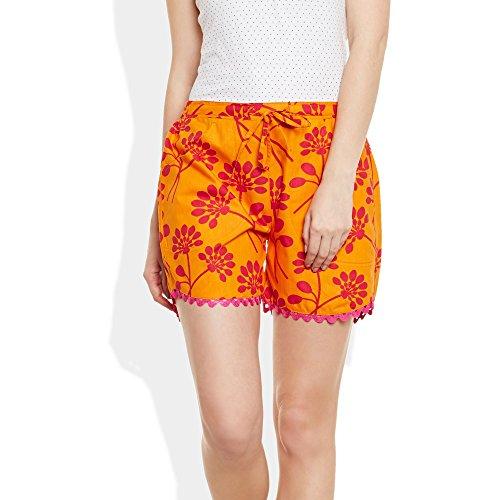 Frauen Baumwolle Gedruckt Strand Kurz Shorts Sommerhose Indian
