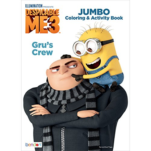 Bendon Despicable Me 3 Jumbo Coloring and Activity Book