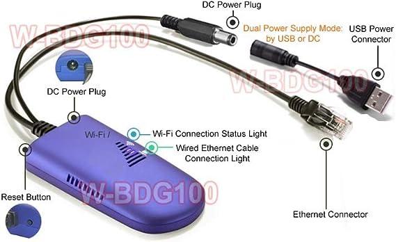 Inalámbrica Wi-Fi a Puerto Ethernet convertidor de video juego y Smart TV ordenador impresora