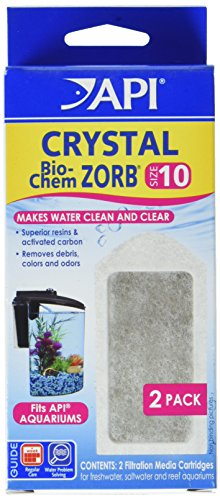 API (3 Pack) Crystal Bio-Chem Zorb Internal Filter Cartridges, Size 10, 2 Filters each by API