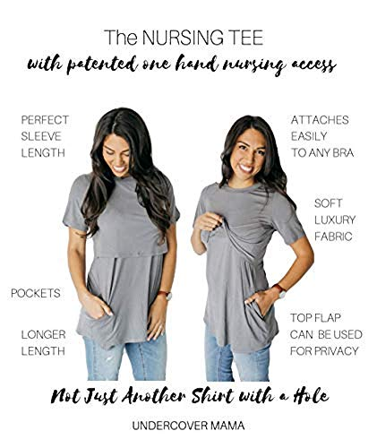 2aa8b1f99b6e3 Nursing Top (Tunic Tee for Breastfeeding) at Amazon Women's Clothing store:
