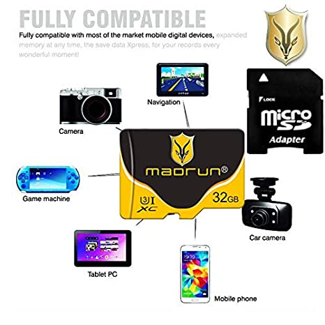 Madrun - Tarjeta de Memoria microSD SDHC (32 GB, Clase 10 ...