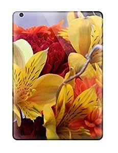 Best 4100424K44969098 Ipad Air Hybrid Tpu Case Cover Silicon Bumper Fall Flowers