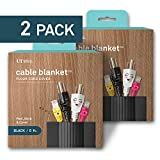 UT Wire UTW-CPL5-BK 5' Cable Blanket Low Profile Cord Cover and Protector, Black (Pack of 2)