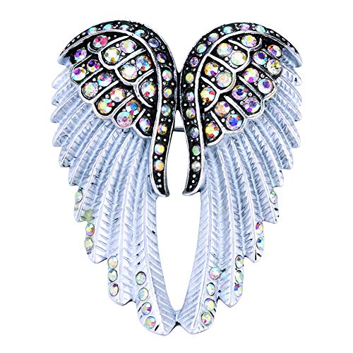 Hiddlston Crystal Guardian Angel Wing Jewelry Custom Brooch Pins For Women