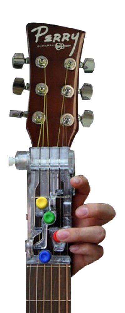 ChordBuddy Guitar Learning System for Left Handed Guitars. Includes ChordBuddy, 2-month Lesson Plan Book, DVD, and Song Book