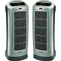 Lasko 2-Pack Ceramic Tower Heater with Digital Display & Remote Control - 755320