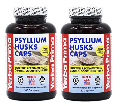 (Yerba Prima Psyllium Husks , 625 Mg, 180 Capsules (2 Pack))