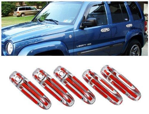 Jeep Liberty Dodge Ram 5 Chrome Door Tailgate Handle Covers