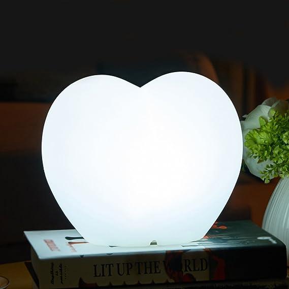 eatlion mando a distancia 7 colores cambiar bombilla LED recargables ánimo lámpara de mesa LED Corazón lámpara Ambiente Luz nocturna, 20 * 14 * 15 cm: ...