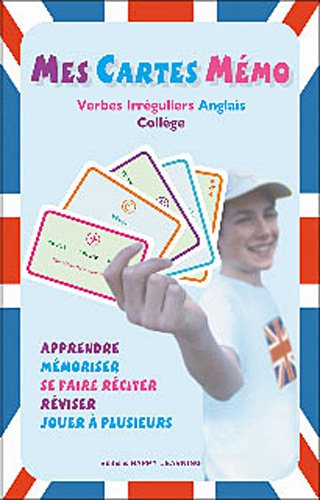 Amazon Fr Mes Cartes Memo Verbes Irreguliers Anglais College Happy Learning Livres