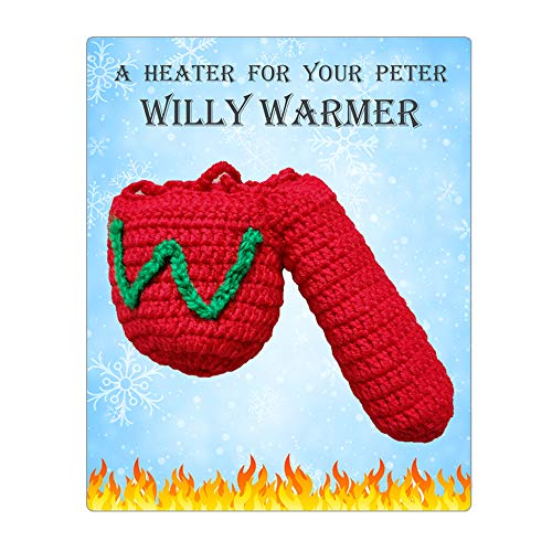 Knit Willy Warmer Peter Heater Funny Gag Gifts Stocking Stuffer for Men Naughty White Elephant Gifts for Husband Boyfriend
