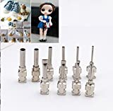 WellieSTR 1 Set Mini Clay doll clothes button tool DIY Clay Tool Clay Button Presses Tool Hole Tool Polymer Clay Sculpture tool