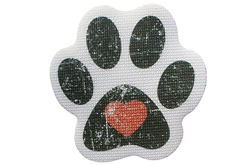 SlipRx USA Nonslip Bathtub Stickers Safety Adhesive Paw Print Treads | Large Decal Surface Area Shower Grip - 4 Diameter Applique (Black)