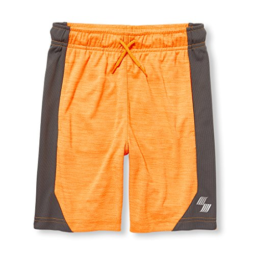 The Children's Place Big Boys' Jacquard Active Shorts, Acapulco Sun Neon 09170, L (10/12) by The Children's Place (Image #1)