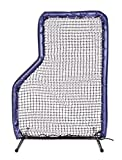 7x5 Armor JR Baseball Pitching L-Screen with NAVY BLUE Padding