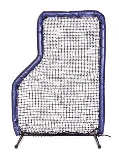 7x5 Armor JR Baseball Pitching L-Screen with NAVY BLUE Padding by Armor