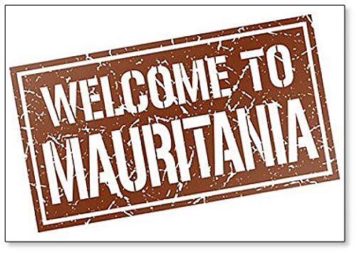 Welcome to Mauritania Stamp Illustration Classic Fridge Magnet