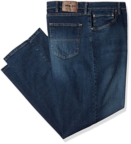 Wrangler Authentics Men's Classic Relaxed Fit Flex Jean, Military Blue Flex, 28W x 30L