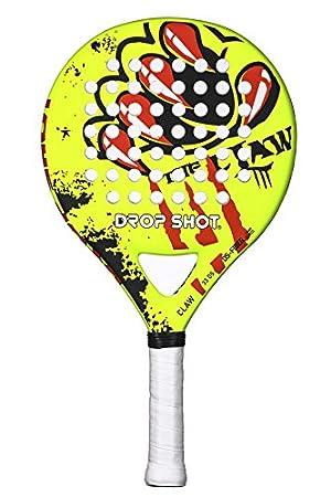 DROP SHOT Claw Pala de Pádel, Unisex niños, Amarillo, 280-310 gr: Amazon.es: Deportes y aire libre