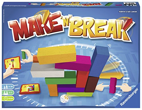 Ravensburger Make 'N' Break for Ages 8 & Up - Build & Destroy Family Action Game