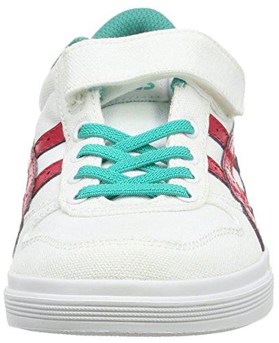 Asics Aaron PS Jungen Sneaker Weiß (White/Classic Red 0123)