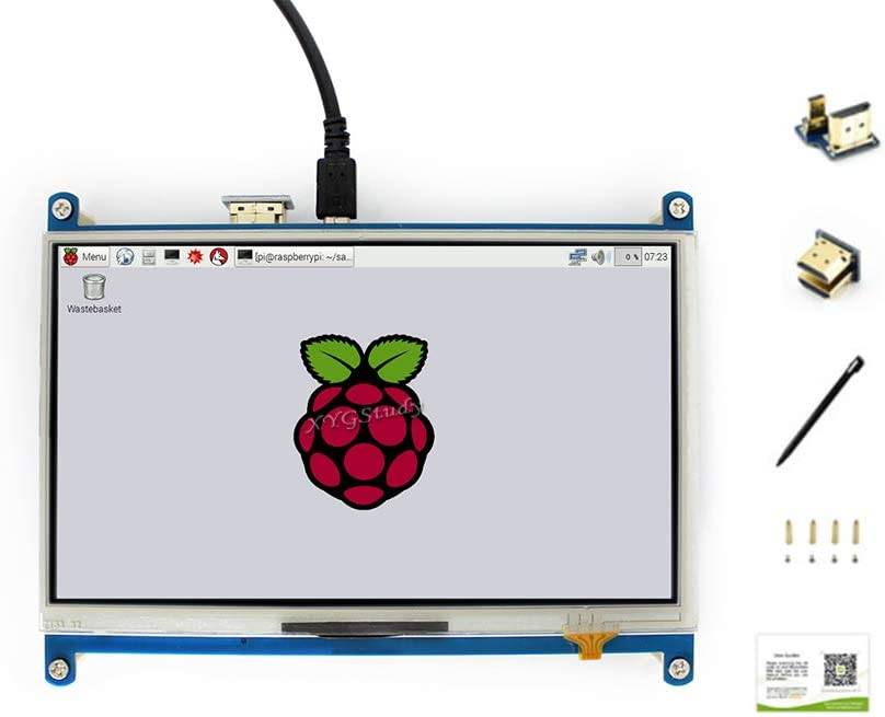 A+ XYGStudy 5.5inch Raspberry Pi Capacitive Touch AMOLED Display Monitor HDMI Resolution1080/×1920 Toughened Glass Panel with Protection Cover Case for Computer Monitor Jetson Nano Pi 4 3 2 Model B B