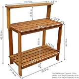 Sunnydaze Meranti Wood Outdoor Potting Bench with