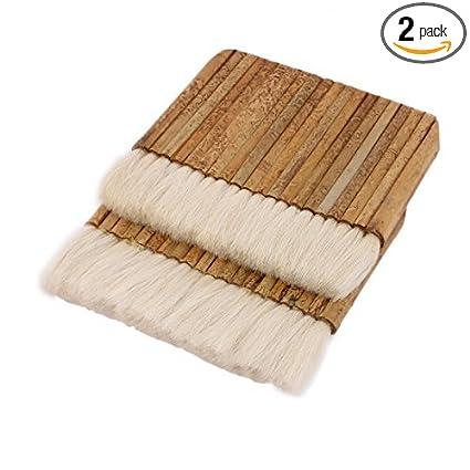 Edealmax 6 Pouces Largeur Bambou Poignée Mur Laine Blanche