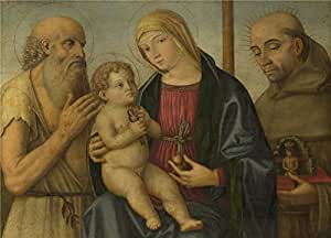 'Filippo Mazzola The Virgin and Child with Saints ' oil painting, 18 x 25 inch / 46 x 64 cm ,printed on polyster Canvas ,this High quality Art Decorative Canvas Prints is perfectly suitalbe for Study gallery art and Home artwork and Gifts