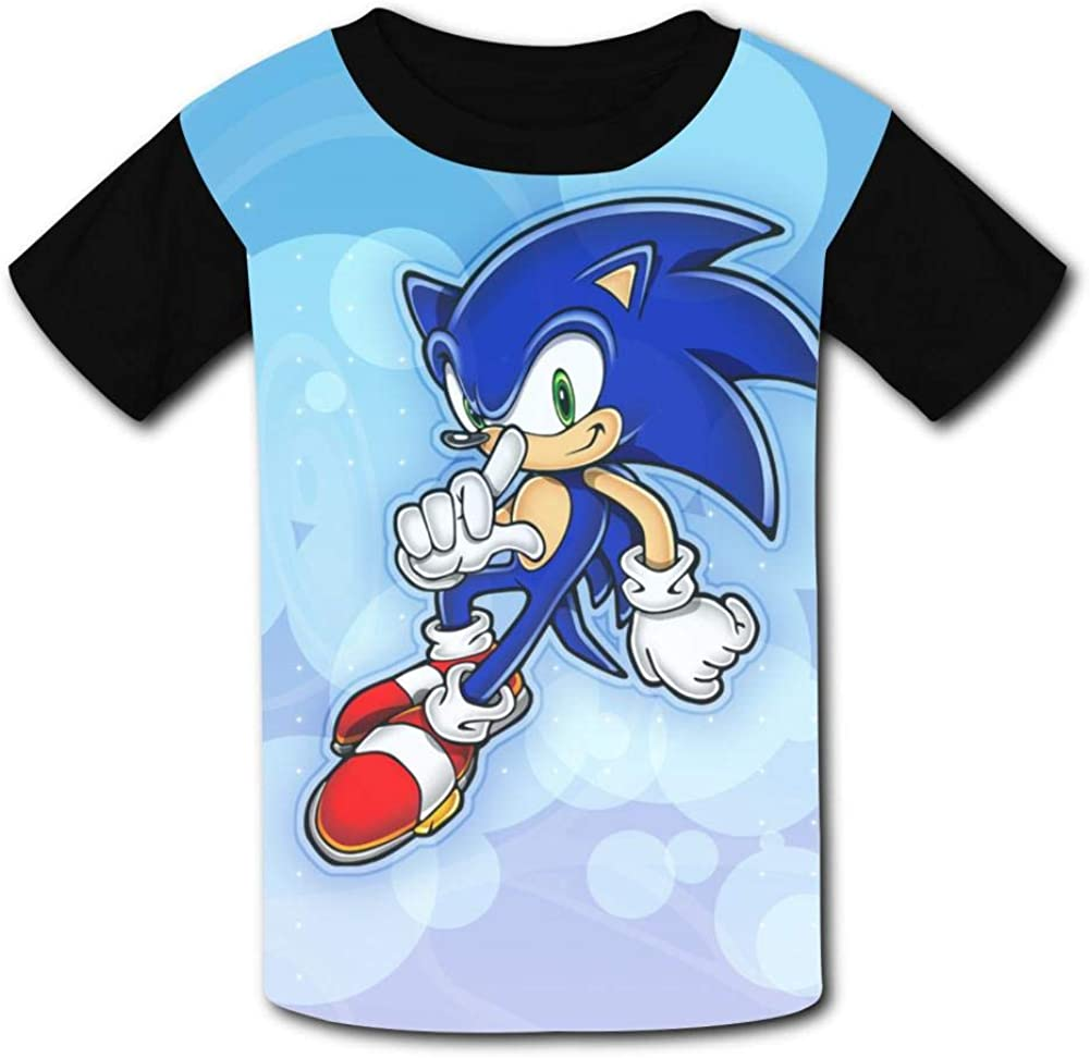 Kgtbvkg Kids T Shirt Son-ic Hedge-hog Game Print Short Sleeves Shirt Top Tees for Girl Boy