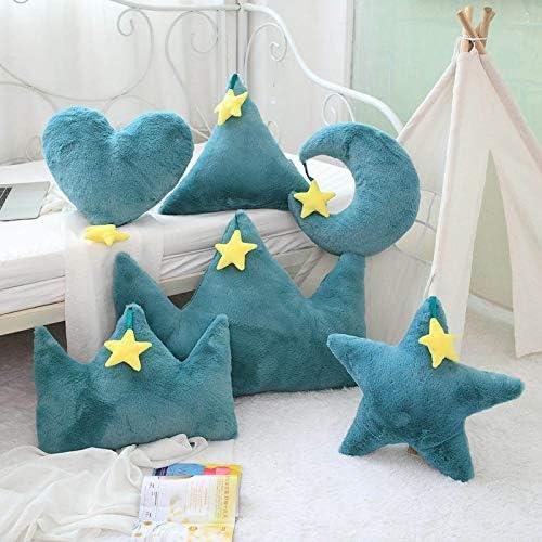 MIAOOWA Official Store 1 Pc 40 X 50 cm Krone Pl/üsch Kissen Bunte Weiche Stern Herz Werfen Kissen Mond Matte Baby Matte M/ädchen Baby Zimmer Dekoration 35 x 40 cm 19
