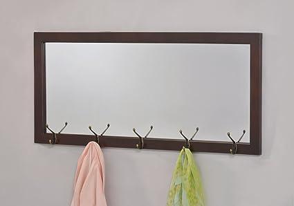 amazon com espresso finish wooden wall hanging rectangular entryway