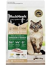 Black Hawk Dry Cat Food, Grain Free Chicken and Turkey, 2.5kg