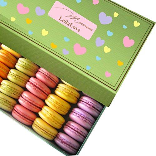 LeilaLove Macarons - Macaron gift basket 3 boxes 40 Macarons