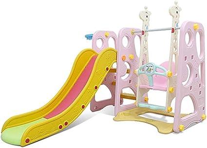 Thole Columpios Infantil Toboganes NiñOs Diapositiva Juguetes para Interior/Exterior/Parque/JardíN Adecuado para Bebé De 1-10 AñOs,Pink: Amazon.es: Deportes y aire libre
