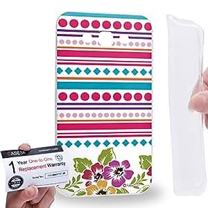 Case88 [Samsung Galaxy E7] Gel TPU Carcasa/Funda & Tarjeta de garantía - Art Aztec Carpet Floral Pattern A Art2608