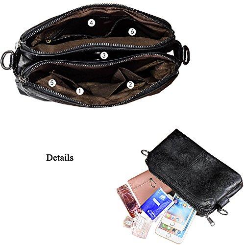Women Black2 Cross Satchel Large Handbags Zipper Purse Ladies Bag Body Messenger Tote Top Handle Bag Fashion Derkia Handbags Bags La Shoulder BOqERR