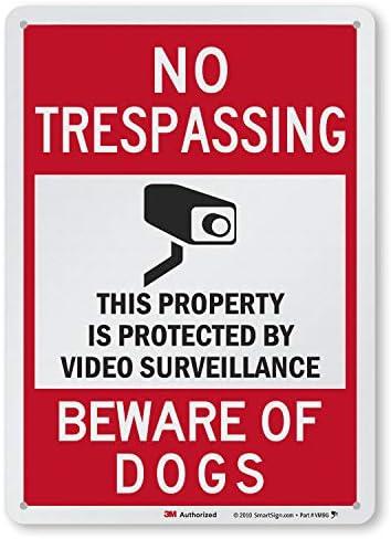 DANGER BEWARE OF DOG GUARD TRESPASS WARNING SECURITY METAL PLAQUE TIN SIGN 945