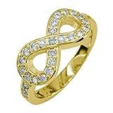 Diamond Infinity Ring, 0.70CT in 18K Yellow Gold