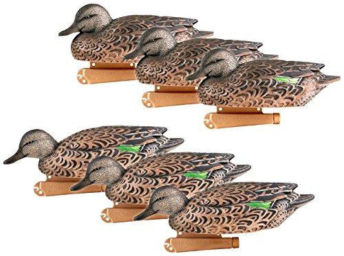 Greenhead Gear Pro-Grade Duck Decoy,Green-Winged Teal/Early Season Hen Pack,1/2 Dozen