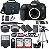 Canon EOS 7D Mark II 20.2MP CMOS Digital SLR Camera Bundle (Body Only) with 2pc SanDisk 32GB Memory Cards + Accessory Kit
