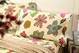 Tache 3 Piece Floral Rainbow Blooms Reversible Bedspread Set, Full